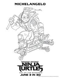 100 ideas teenage mutant ninja turtles colouring pictures