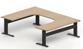 U Shape Desk Newheights U Shaped Lt Electric Standing Desk