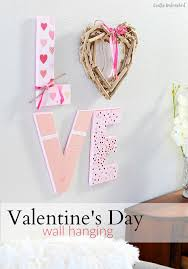 Valentine Wall Decorations Ideas diy valentine u0027s day love wall hanging crafts unleashed