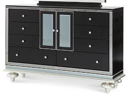 aico hollywood swank vanity hollywood swank upholstered dresser only black iguana