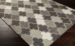 Brown And Grey Area Rugs Oas 1088 Rug From Oasis By Surya Plushrugs