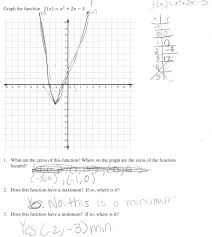 4 Quadrant Graphing Worksheets Graphing A Quadratic Function Students Are Asked To Graph A