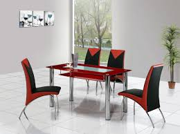 furniture compact red dining table and chairs nice red seat nice