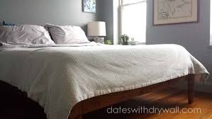 Simple King Platform Bed Plans by Ana White Mid Century Inspired Bed Modus Newport Platform Bed