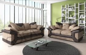 Beige Fabric Sofa Dino 3 2 Fabric Sofas In Brown Beige Or Black Grey Chairs And