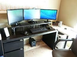 Raised Desk Shelf Desk Computer Desk With Raised Monitor Shelf Computer Desk With