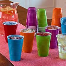 party cups hefty everyday plastic party cups assorted colors 16