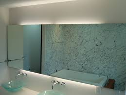 Lighted Bathroom Wall Mirrors Outstanding Lighted Wall Mirror For Bathroom Ordinary Amazing