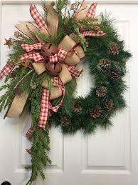 burlap christmas wreath 25 unique country wreaths ideas on christmas wreaths