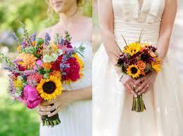 sunflower wedding bouquet bouquet roundup 15 whimsical sunflower wedding bouquets