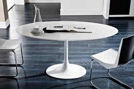 Modern Round Dining Table Wood Round Dining Table 4 Dining Room Modern White Lacquer Round
