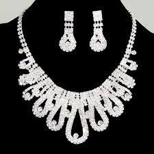 rhinestone necklace sets images Rhinestone jewelry silver plated crystal rhinestones necklace jpg