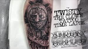american horror story twisty the clown tattoo time lapse spektra