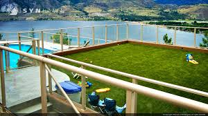 Fake Grass For Patio Kansas City Synthetic Turf Roof Deck And Patio Applications