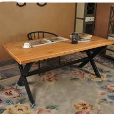 Solid Wood Coffee Tables Country Old Wood Vintage Wrought Iron Table And Wood Home Office