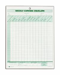 Expense Report Receipts by Amazon Com Tops Weekly Expense Envelope 8 1 2 X 11 20