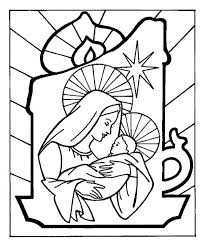 baby jesus mother mary christmas eve christmas coloring