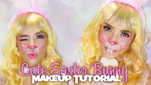 halloween makeup cute cute easter bunny makeup tutorial halloween series youtube