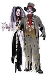 Halloween Costume Bride Zombie Bride U0026 Groom Couple Costumes Bride Groom Skeletons