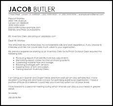 inventory clerk cover letter sample livecareer