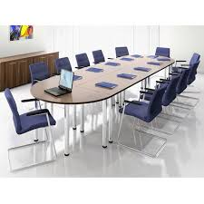 Large Oval Boardroom Table Modular Meeting Or Tables On Pole Legs Oval Boardroom