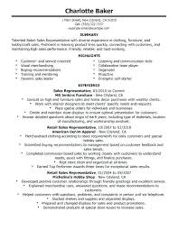 outside sales resume exles sales representative resume resume exles for retail lovely