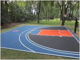 Backyard Basketball Court Backyards Cozy Back To Post Backyard Basketball Court Size 129