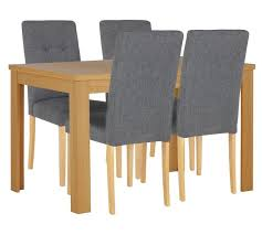 Dining Tables 4 Chairs Buy Collection Adaline Extendable Dining Table U0026 4 Chairs Grey