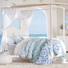Canopy Bedding Beadboard Canopy Bed Trundle Pbteen