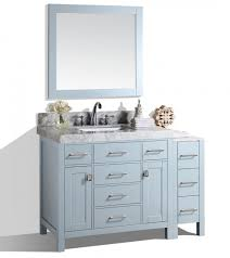 Bathroom Vanity With Side Cabinet Precious 52 Bathroom Vanity Malibu Gray Single Modern With Side