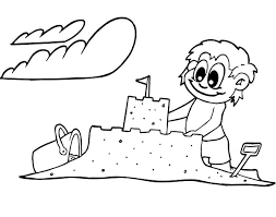 Creative Coloring Pages To Print Creative Sand Castle Coloring Sandcastle Coloring Page