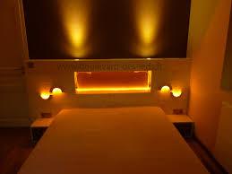 clairage chambre coucher chambre éclairage led orange