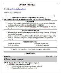Employee Engagement Resume Hr Generalist Resume Format Sample Hr Resumes Sr Hr Generalist