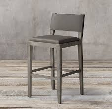 Restoration Hardware Bar Stool Leather Stool