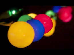 lights craft with string lights and ping pong balls