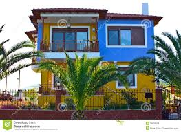 mediterranean house mediterranean house balcony stock photo image 31803032
