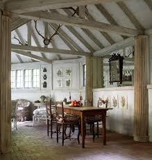 wooden plaques dining room rustic with vaulted ceilings flower