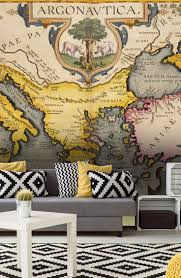 mural old map map wall mural astonishing black and white map