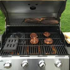 Backyard Grills Walmart Char Broil 4 Burner Gas Grill With Side Burner Stainless Steel
