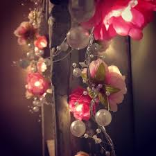 Aliexpresscom  Buy Creamy WhitePink Rose Flower Garland Fairy - Pink fairy lights for bedroom