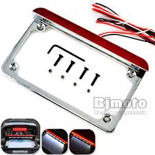motorcycle license plate frame with led brake light aliexpress com buy bjmoto universal motorcycle 4 x 7 12v