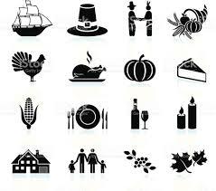 black and white thanksgiving clipart thanksgiving holiday celebration black white vector icon set stock