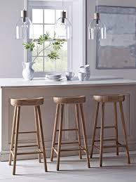Wooden Breakfast Bar Stool Weathered Oak Bar Stool