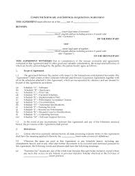 canada software u0026amp services acquisition agreement legal forms