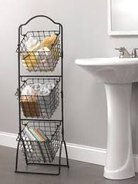 Tiered Bathroom Storage This 3 Tier Market Basket Stand Is The Practical And