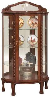 antique curio cabinet with curved glass antique mahogany curved glass china cabinet claw by lightsandmore