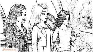 barbie coloring pages free printable black and white pictures