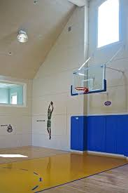 Basketball Courts With Lights Indoor Basketball Courts Home Gym Farmhouse With Dormer Windows