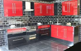 black gloss kitchen ideas and black kitchen black white kitchen cabinet design