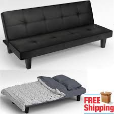 Leather Click Clack Sofa Click Clack Sofa Bed Black Faux Leather 2 3 Seater Modern Settee